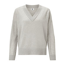 Buy Kin by John Lewis Reverse V-Neck Jumper, Grey Online at johnlewis.com