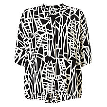 Buy Kin by John Lewis Assemble Print Oversized Top, Black Online at johnlewis.com