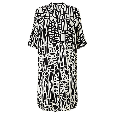 Buy kin by john lewis assemble print dress black white online at johnlewis