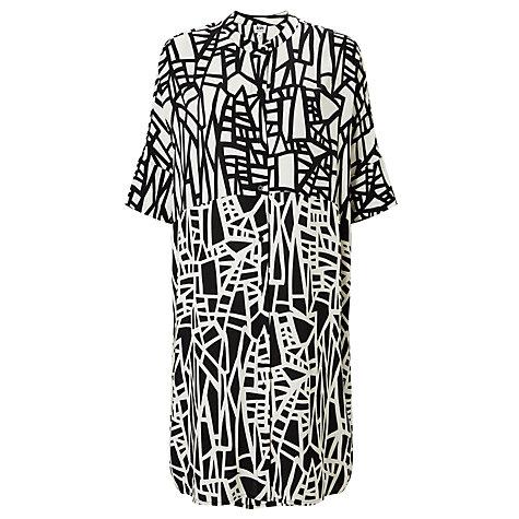 Buy kin by john lewis assemble print dress black white online at johnlewis