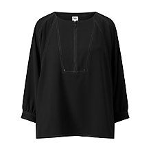 Buy Kin by John Lewis Batwing Utility Top, Black Online at johnlewis.com
