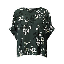 Buy Kin by John Lewis Scatter Floral Top, Green Online at johnlewis.com