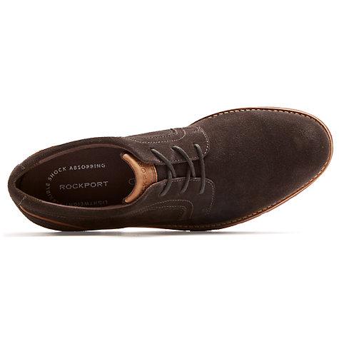 ... Buy Rockport Stratford Plain Toe Shoes, Brown Online at johnlewis.com  ...