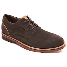 Buy Rockport Stratford Plain Toe Shoes, Brown Online at johnlewis.com