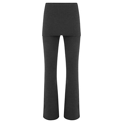 Product photo of Hygge by mint velvet skirted wide leg leggings charcoal