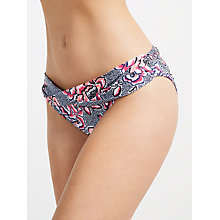 Buy John Lewis Dessert Rose Twist Bikini Brief, Blue/Pink Online at johnlewis.com