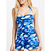 Buy John Lewis Tranquil Skirted Control Swimsuit, Blue Online at johnlewis.com