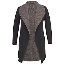 Buy Chesca Reversible Herringbone Shrug, Black/Cream Online at johnlewis.com