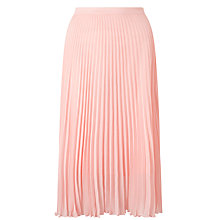Buy Baum und Pferdgarten Saxona Pleated Midi Skirt, Blossom Online at johnlewis.com