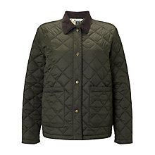 Buy Barbour Heritage Summer Cropped Border Jacket, Sage Online at johnlewis.com