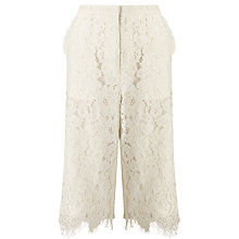 Buy Darling London Fredrika Lace Culottes, White Online at johnlewis.com