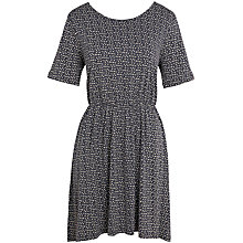 Buy Fat Face Sara Ditsy Dress, Phantom Online at johnlewis.com