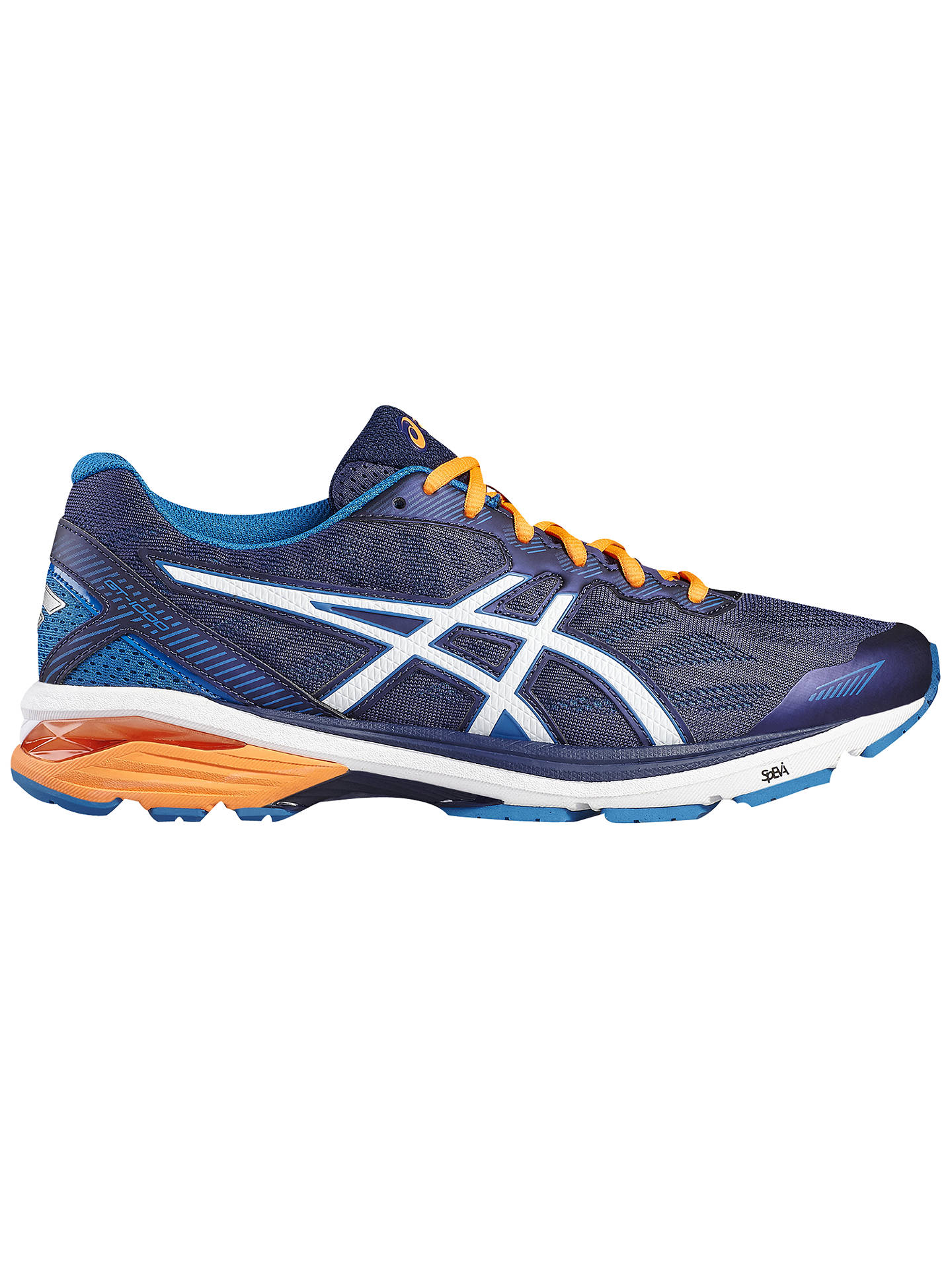 b4a71a7675 Asics GT-1000 5 Men's Running Shoes, Blue/White at John Lewis & Partners