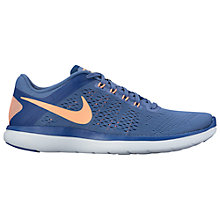 Buy Nike Flex 2016 RN Women's Running Shoes, Blue Moon/Sunset Glow Online at johnlewis.com