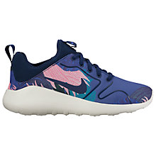 Buy Nike Kaishi 2.0 Leaf Print Women's Trainers, Binary Blue Online at johnlewis.com