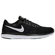 Buy Nike Flex 2016 RN Women's Running Shoes, Black/White Online at johnlewis.com