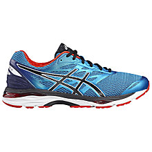 Buy Asics Gel-Cumulus 18 Men's Running Shoes, Blue/Black Online at johnlewis.com