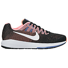 Buy Nike Air Zoom Structured 20 Women's Running Shoes, Black/White/Lava Glow Online at johnlewis.com