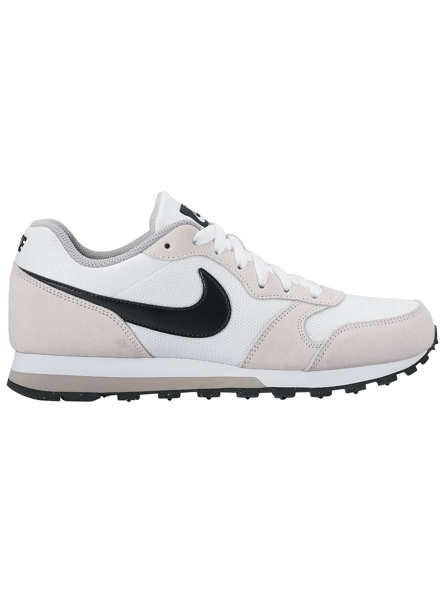 7db3a0ba6a1 Buy Nike MD Runner 2 Women's Trainers, White, 4 Online at johnlewis. ...