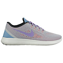 Buy Nike Free RN Women's Running Shoes, Wolf Grey/Purple Earth Online at johnlewis.com