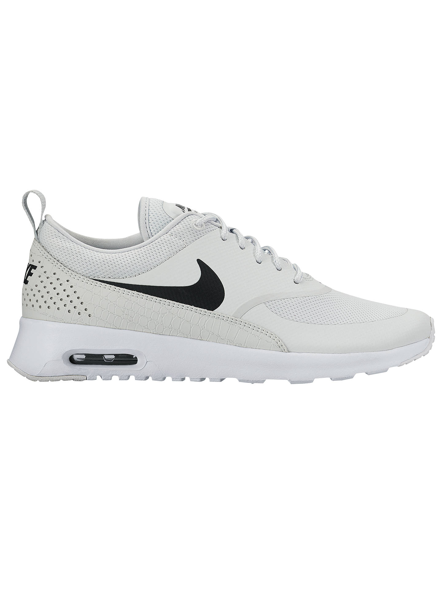 outlet store 4210e 16591 Buy Nike Air Max Thea Women s Trainers, Pure Platinum Black, 4 Online at ...