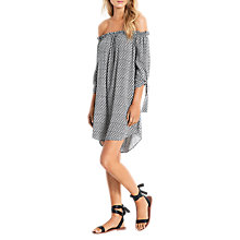 Buy Seafolly Spice Temple Geo Print Off-Shoulder Dress, Black/Multi Online at johnlewis.com