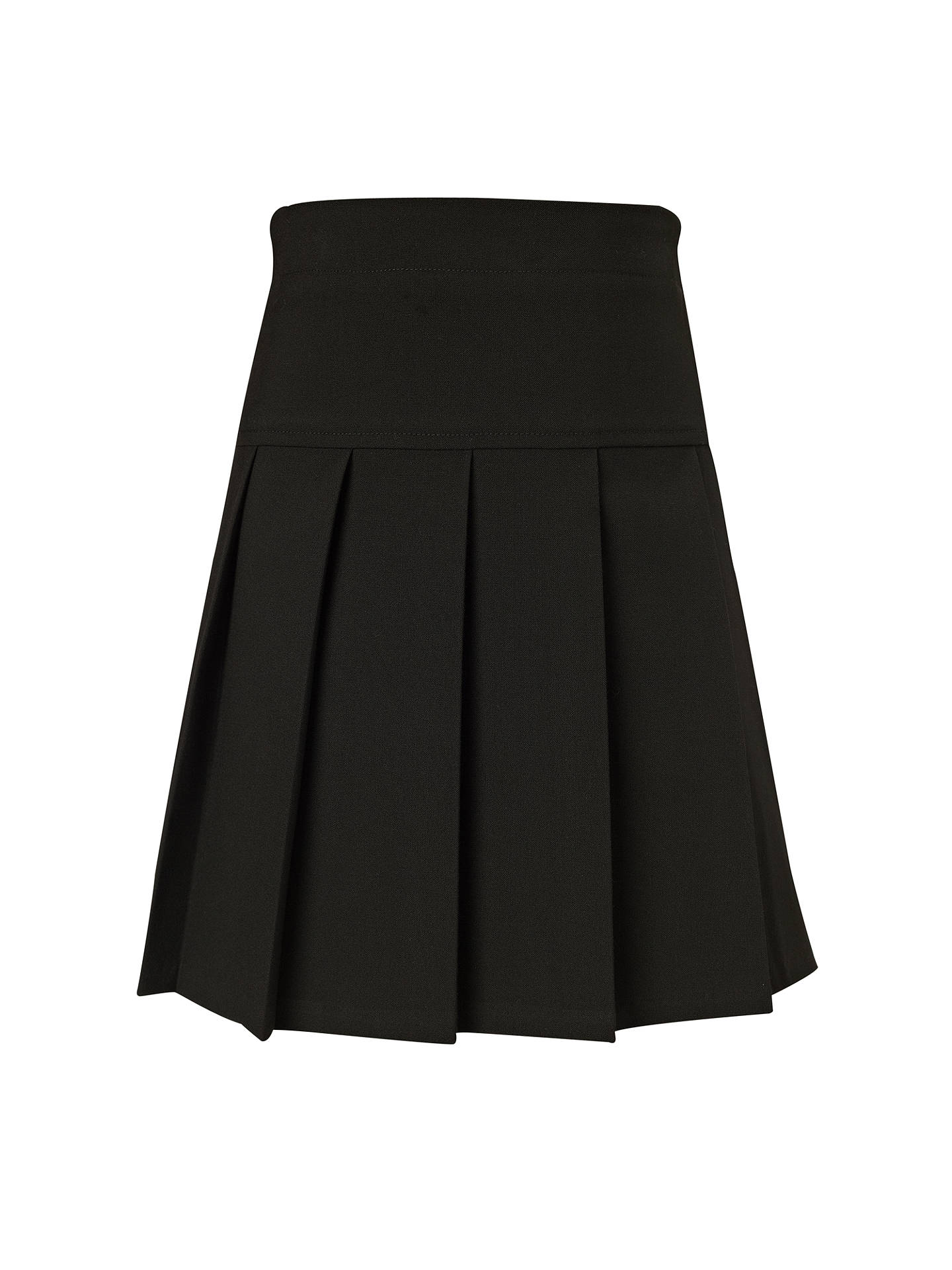 Buy John Lewis & Partners Girls' Panel Pleated School Skirt, Black, 5 years Online at johnlewis.com