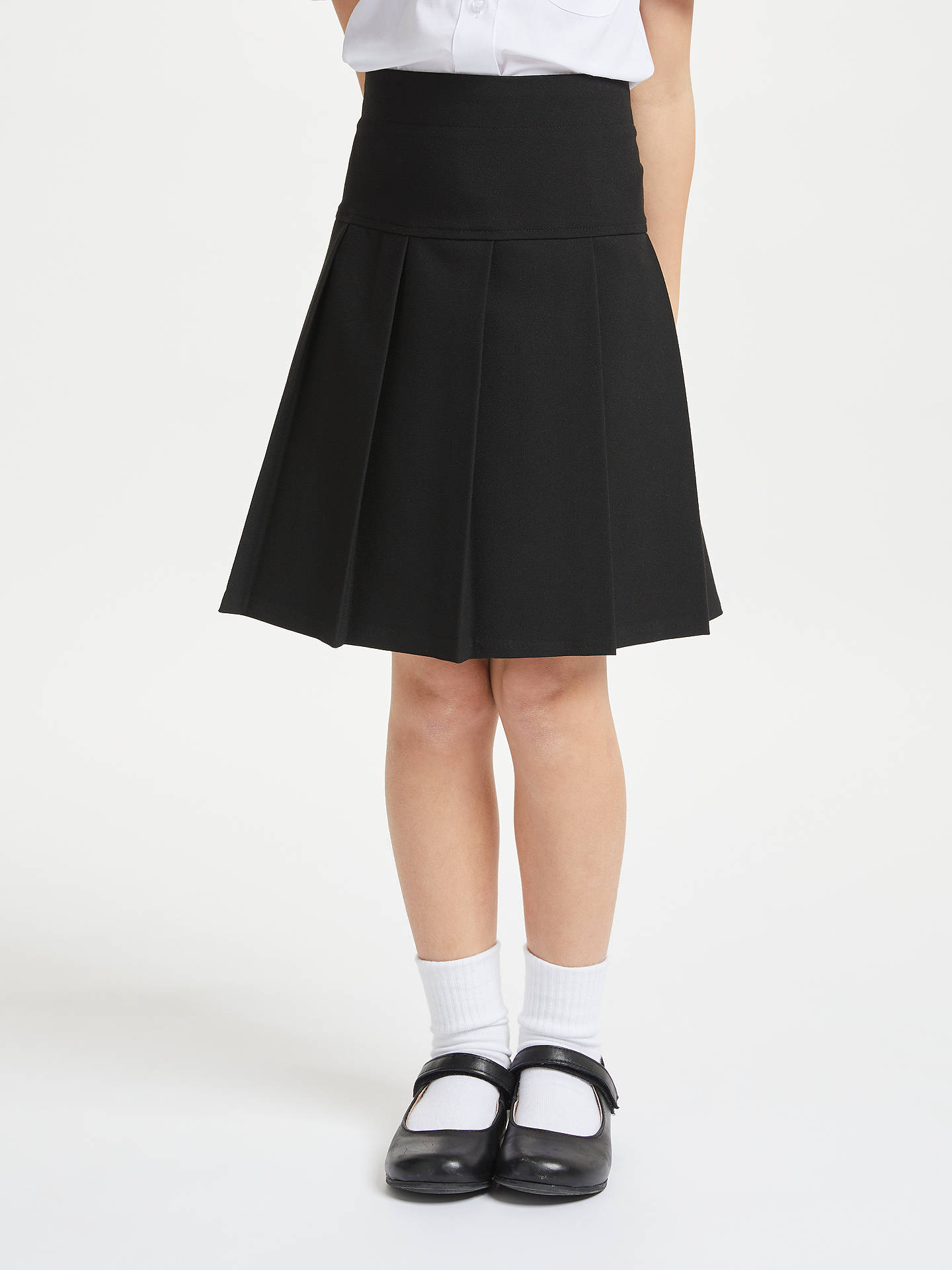 1f0f0c7f7fee Buy John Lewis & Partners Girls' Panel Pleated School Skirt, Black, 4 years  ...
