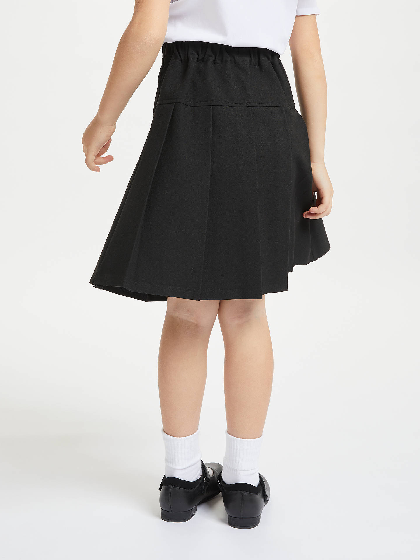 47c1335ca751 ... Buy John Lewis & Partners Girls' Panel Pleated School Skirt, Black, 4  years ...