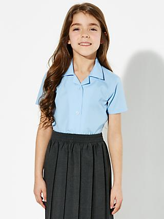71ee9f7aac John Lewis   Partners Girls  Easy Care Open Neck Short Sleeve School  Blouse