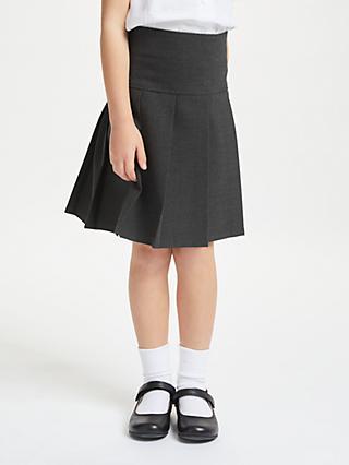 e33e5fd59 John Lewis & Partners Girls' Generous Fit Adjustable Waist Pleated School  Skirt