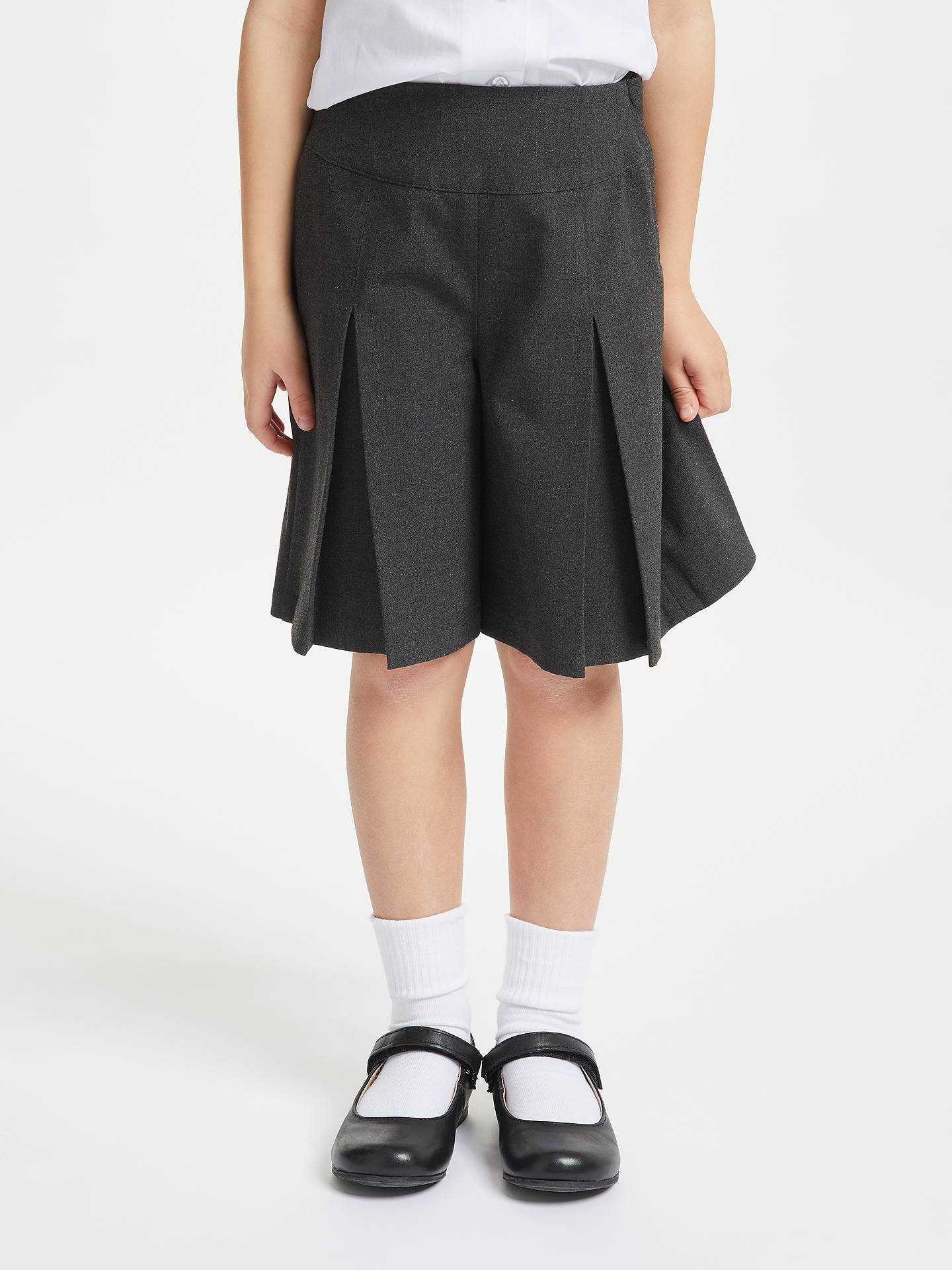 Buy John Lewis & Partners Girls' Adjustable Waist School Culottes, Grey, 5 years Online at johnlewis.com