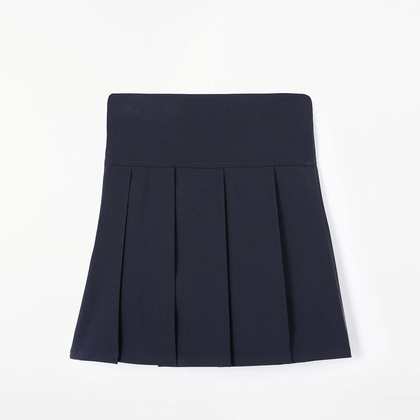 BuyJohn Lewis Girls' Panel Pleated School Skirt, Navy, 4 years Online at johnlewis.com