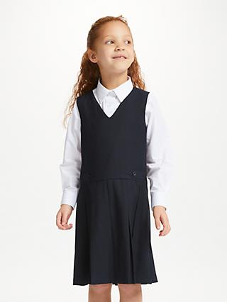 John Lewis & Partners School Box Pleat Tunic, Navy