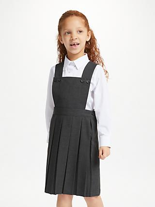 John Lewis & Partners Girls' School Bib Tunic