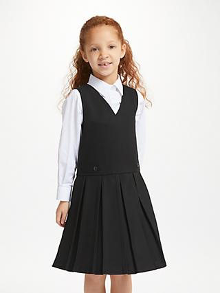 John Lewis & Partners School Box Pleat Tunic, Black