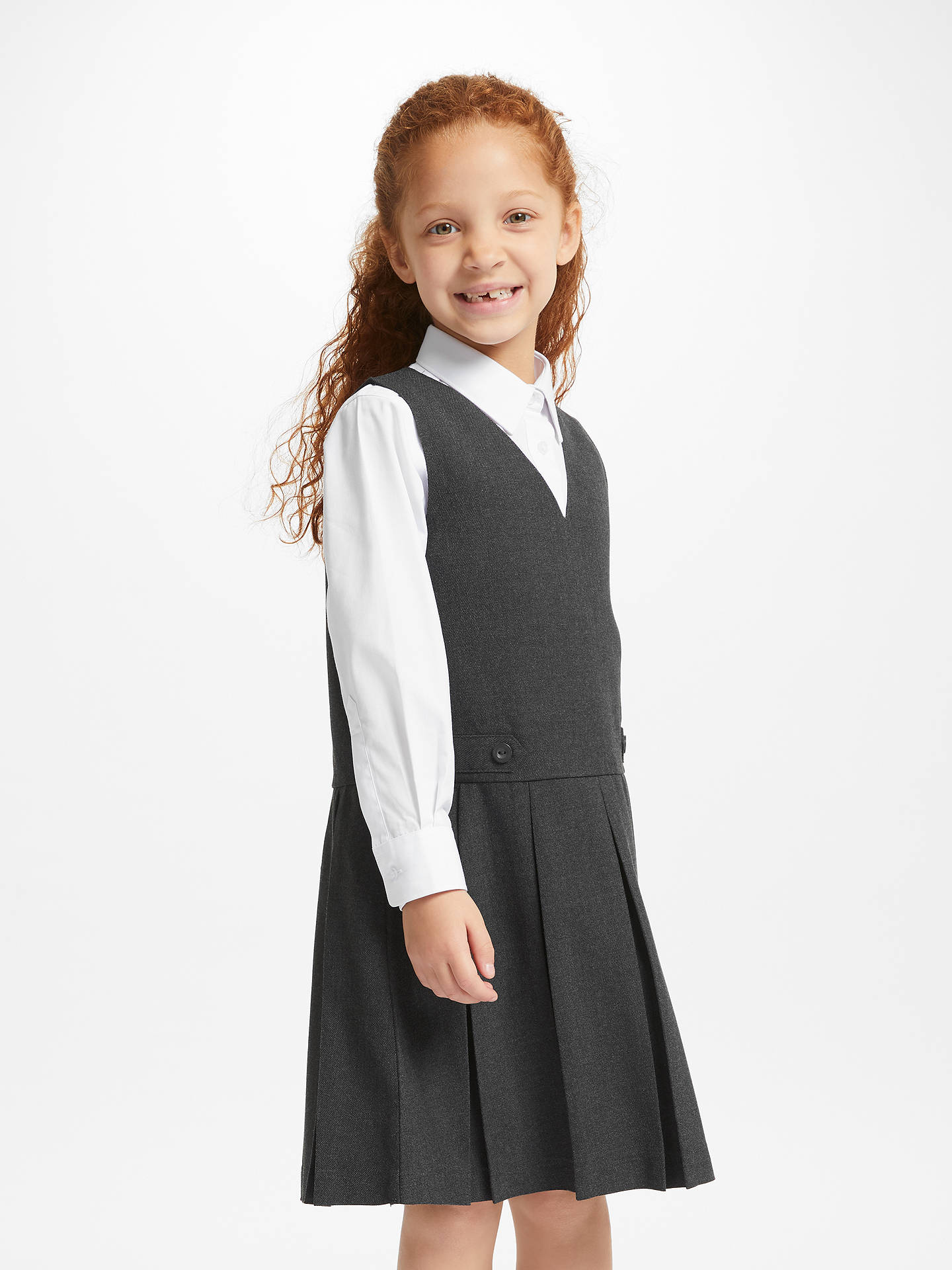 6f384978f Buy John Lewis & Partners School Box Pleat Tunic, Grey, 3 years Online at  ...