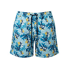 Buy John Lewis Sea Floral Print Swim Shorts, Blue Online at johnlewis.com
