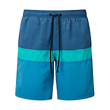 Buy John Lewis Cut and Sew Block Swim Shorts, Blue Online at johnlewis.com