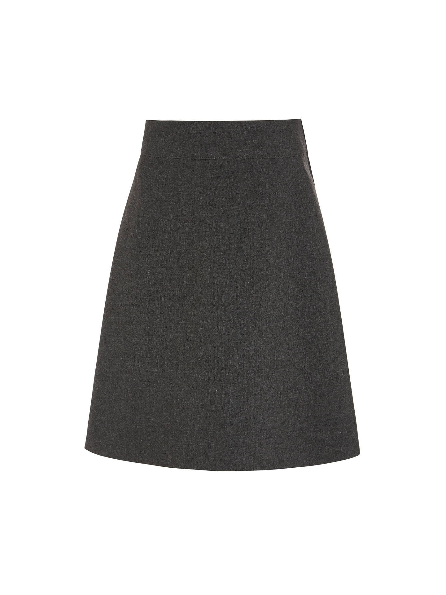 e8cc299ea5 Buy John Lewis & Partners Girls' Easy Care Adjustable Waist Skater School  Skirt, Grey ...