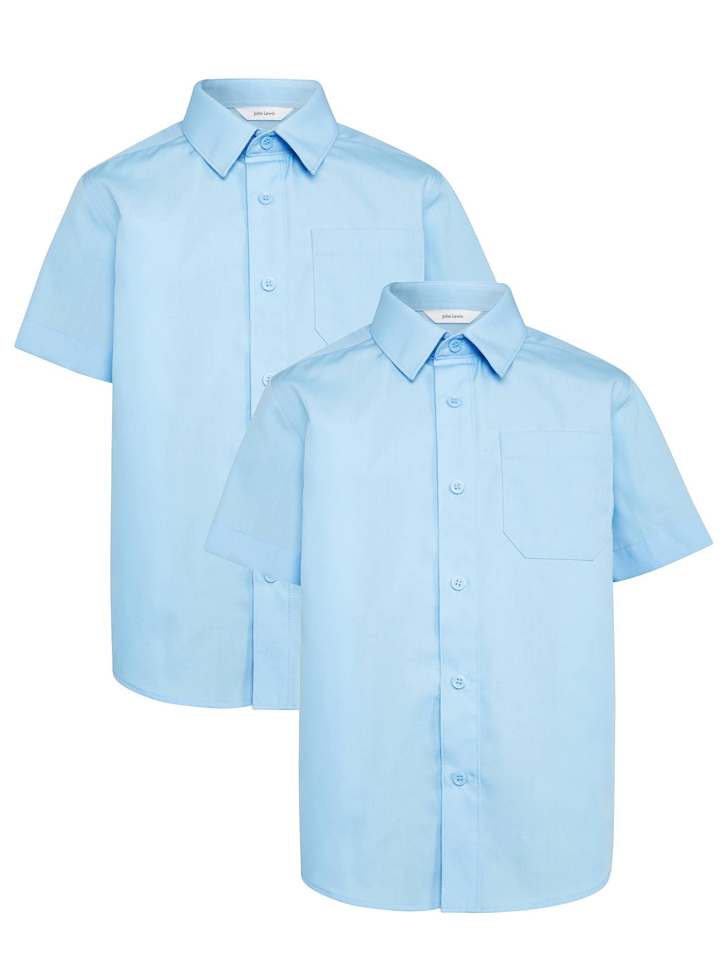 6ede76442 ... Buy John Lewis & Partners Boys' Easy Care Short Sleeve School Shirt,  Pack of ...