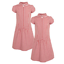 Buy John Lewis Girls' The Basics School Summer Dress, Pack of 2 Online at johnlewis.com