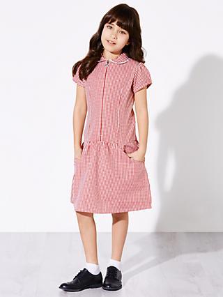 757757930494 John Lewis & Partners Girls' The Basics School Summer Dress, ...