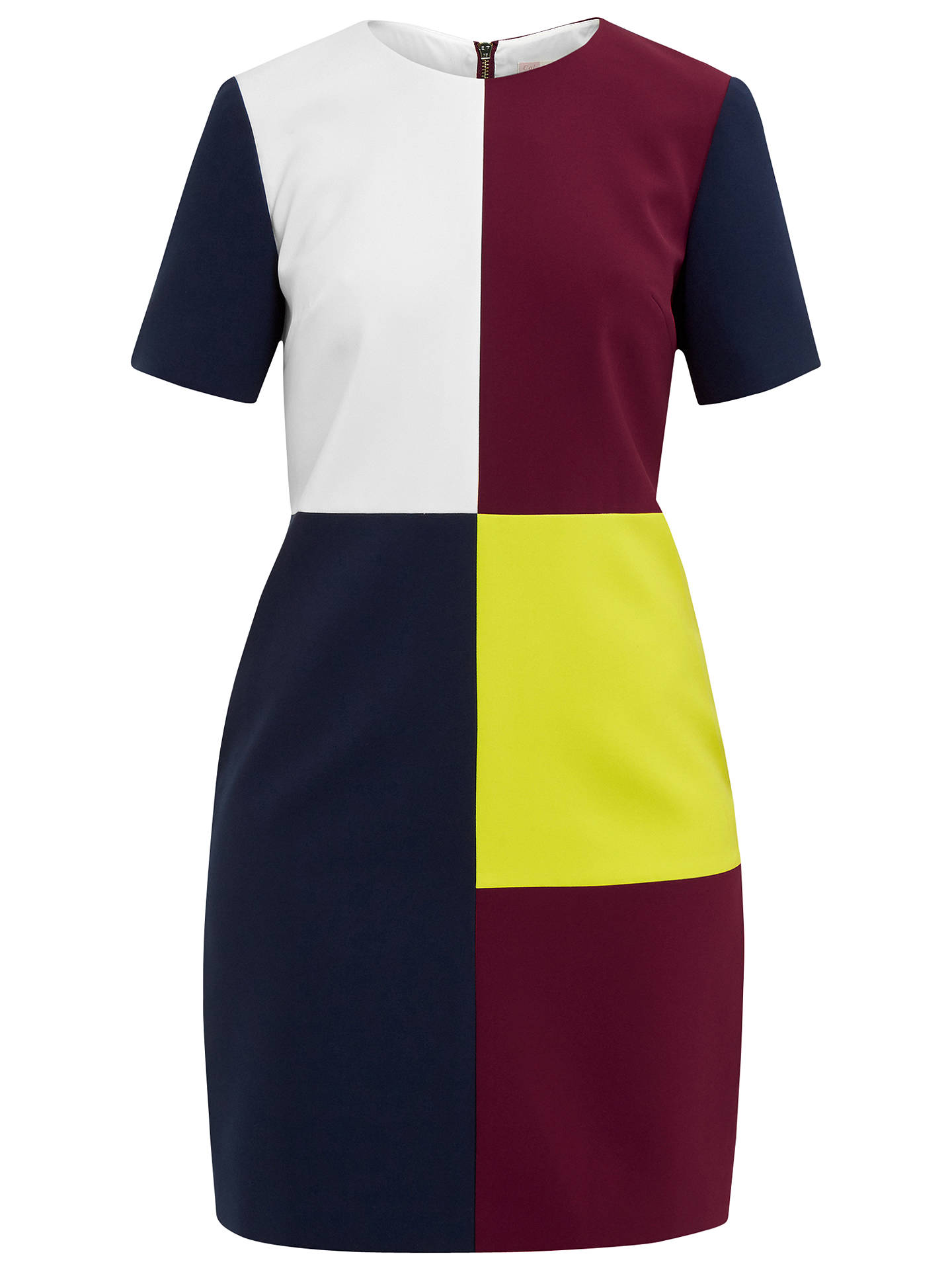 fd9dce561 Ted Baker Colour By Numbers Ardell Colour Block Dress at John Lewis ...