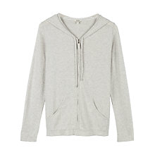 Buy Fat Face Knitted Zip Thru Hoody, Grey Marl Online at johnlewis.com