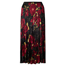 Buy East Alexandra Pleat Skirt, Crimson Online at johnlewis.com