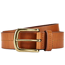 Buy John Lewis Juliette Stitch Detail Jeans Belt, Tan Online at johnlewis.com