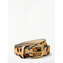 Buy John Lewis Sarah Smart Daytime Leather Belt, Leopard Online at johnlewis.com