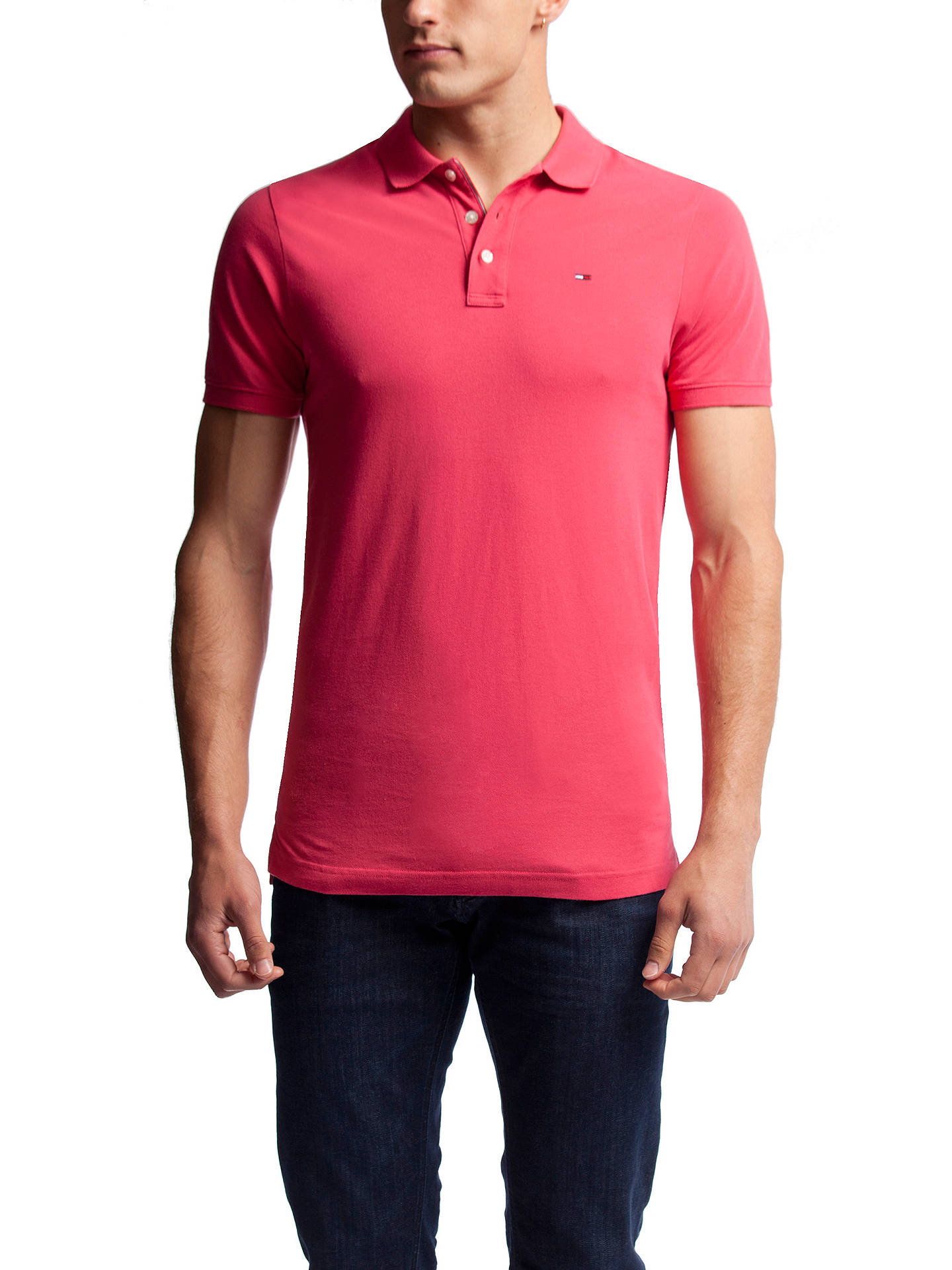 Tommy Hilfiger Basic Cotton Pique Polo Shirt At John Lewis Partners