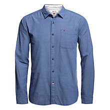 Buy Hilfiger Denim Dobby Long Sleeve Regular Fit Shirt, True Blue Online at johnlewis.com